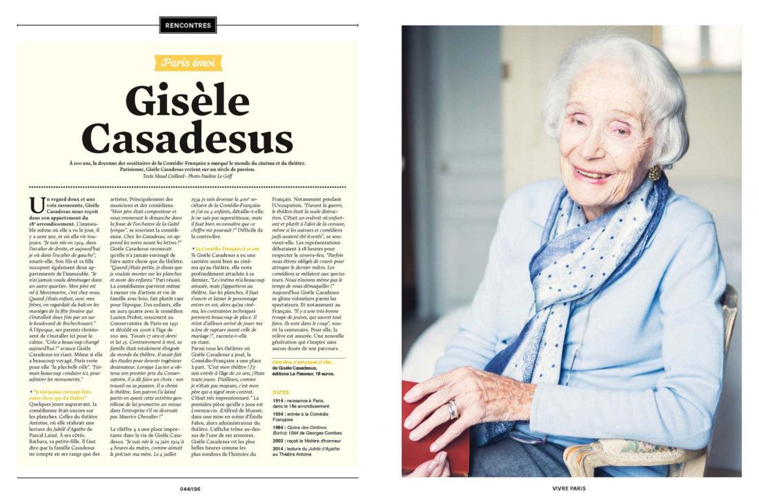 Gisèle Casadesus © Pauline Le Goff